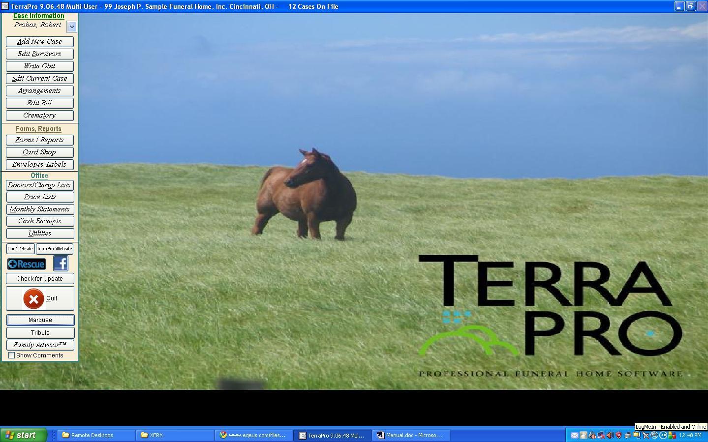 TerraPro Main Menu